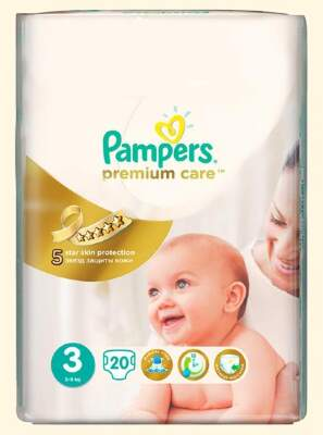 Подгузники Pampers Premium Care Midi (5-9 кг) 20 шт