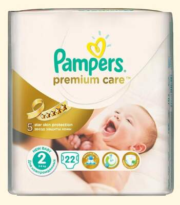 Подгузники Pampers Premium Care Mini (3-6 кг) 22 шт