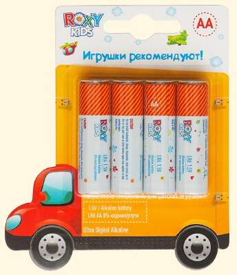 "Батарейки ""Машинка"" AA Ultra Digital Premium (4 шт) Roxy-Kids"