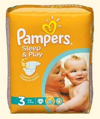Подгузники Pampers Sleep & Play Midi (4-9 кг) 16 шт