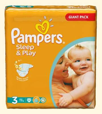Подгузники Pampers Sleep & Play Midi (4-9 кг) 100 шт