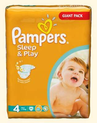Подгузники Pampers Sleep & Play Maxi (7-14 кг) 86 шт