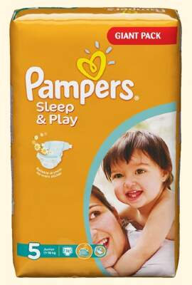 Подгузники Pampers Sleep & Play Junior (11-18 кг) 74 шт