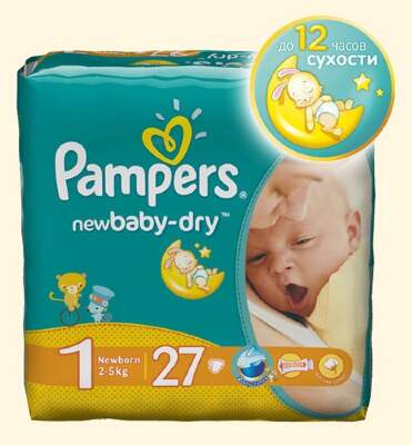 Подгузники Pampers New Baby Newborn (2-5 кг) 27 шт