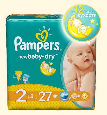Подгузники Pampers New Baby Mini (3-6 кг) 27 шт