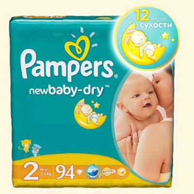 Подгузники Pampers New Baby Mini (3-6 кг) 94 шт