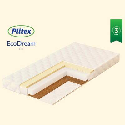 Детский матрас  «EcoDream» Plitex 120х60х9 см (ЭКД-01)