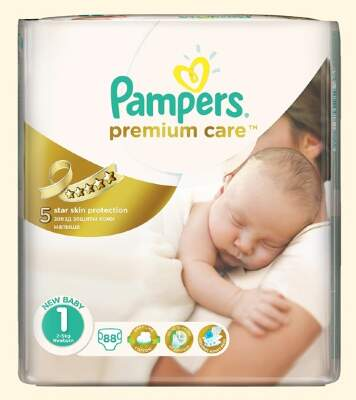 Подгузники Pampers Premium Care Newborn (2-5 кг) 88 шт